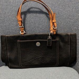 Coach purse black/tan